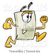 Illustration of a Cartoon Light Switch Mascot Running by Toons4Biz