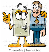 Illustration of a Cartoon Light Switch Mascot Talking to a Business Man by Toons4Biz