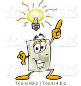 Illustration of a Cartoon Light Switch Mascot with a Bright Idea by Toons4Biz