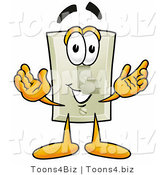 Illustration of a Cartoon Light Switch Mascot with Welcoming Open Arms by Toons4Biz