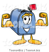 Illustration of a Cartoon Mailbox Flexing His Arm Muscles by Toons4Biz