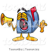 Illustration of a Cartoon Mailbox Screaming into a Megaphone by Toons4Biz