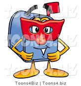 Illustration of a Cartoon Mailbox Wearing a Red Mask over His Face by Toons4Biz