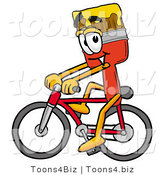 Illustration of a Cartoon Paint Brush Mascot Riding a Bicycle by Toons4Biz