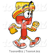 Illustration of a Cartoon Paint Brush Mascot Speed Walking or Jogging by Toons4Biz