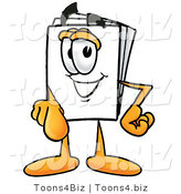 Illustration of a Cartoon Paper Mascot Pointing at the Viewer by Toons4Biz