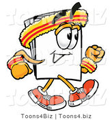 Illustration of a Cartoon Paper Mascot Speed Walking or Jogging by Toons4Biz