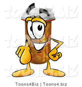 Illustration of a Cartoon Pill Bottle Mascot Pointing at the Viewer by Toons4Biz