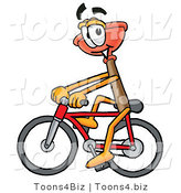 Illustration of a Cartoon Plunger Mascot Riding a Bicycle by Toons4Biz