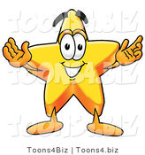Illustration of a Cartoon Star Mascot with Open Arms by Toons4Biz