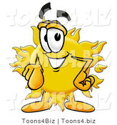 Illustration of a Cartoon Sun Mascot Pointing at the Viewer by Toons4Biz