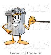 Illustration of a Cartoon Trash Can Mascot Pointing at the Viewer by Toons4Biz