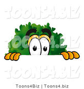Illustration of a Cartoon Tree Mascot Peeking over a Surface by Toons4Biz