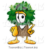 Illustration of a Cartoon Tree Mascot Pointing at the Viewer by Toons4Biz