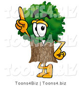 Illustration of a Cartoon Tree Mascot Pointing Upwards by Toons4Biz