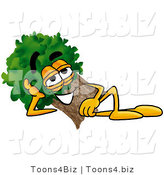 Illustration of a Cartoon Tree Mascot Resting His Head on His Hand by Toons4Biz