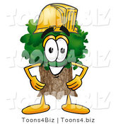Illustration of a Cartoon Tree Mascot Wearing a Helmet by Toons4Biz