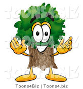 Illustration of a Cartoon Tree Mascot with Welcoming Open Arms by Toons4Biz