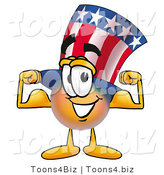 Illustration of a Cartoon Uncle Sam Mascot Flexing His Arm Muscles by Toons4Biz