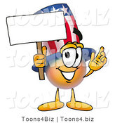 Illustration of a Cartoon Uncle Sam Mascot Holding a Blank Sign by Toons4Biz