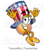 Illustration of a Cartoon Uncle Sam Mascot Jumping by Toons4Biz