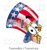 Illustration of a Cartoon Uncle Sam Mascot Peeking Around a Corner by Toons4Biz