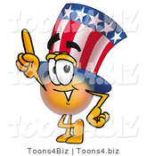 Illustration of a Cartoon Uncle Sam Mascot Pointing Upwards by Toons4Biz