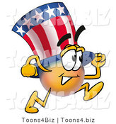 Illustration of a Cartoon Uncle Sam Mascot Running by Toons4Biz