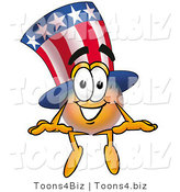 Illustration of a Cartoon Uncle Sam Mascot Sitting by Toons4Biz