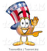 Illustration of a Cartoon Uncle Sam Mascot Waving and Pointing by Toons4Biz