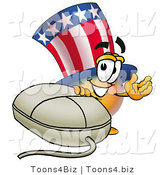Illustration of a Cartoon Uncle Sam Mascot with a Computer Mouse by Toons4Biz