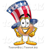 Illustration of a Cartoon Uncle Sam Mascot with His Hands on His Hips by Toons4Biz