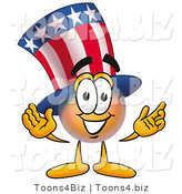 Illustration of a Cartoon Uncle Sam Mascot with Welcoming Open Arms by Toons4Biz