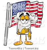 Illustration of a Chef Hat Mascot Pledging Allegiance to an American Flag by Toons4Biz