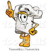 Illustration of a Chef Hat Mascot Pointing Upwards by Toons4Biz