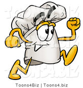 Illustration of a Chef Hat Mascot Running by Toons4Biz