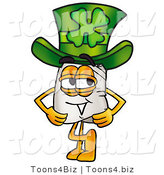 Illustration of a Chef Hat Mascot Wearing a Saint Patricks Day Hat with a Clover on It by Toons4Biz