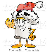 Illustration of a Chef Hat Mascot Wearing a Santa Hat and Waving by Toons4Biz
