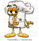 Illustration of a Chef Hat Mascot Whispering and Gossiping by Toons4Biz