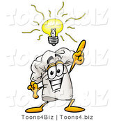 Illustration of a Chef Hat Mascot with a Bright Idea by Toons4Biz