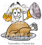 Illustration of a Chef Hat Serving a Thanksgiving Turkey on a PlatterChef Hat Serving a Thanksgiving Turkey on a Platter by Toons4Biz