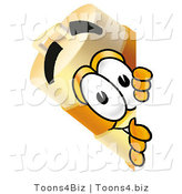 Illustration of a Construction Safety Barrel Mascot Peeking Around a Corner by Toons4Biz