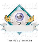Illustration of a Eyeball Mascot on a Business Logo Label by Toons4Biz