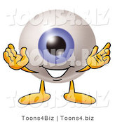 Illustration of a Eyeball Mascot with Welcoming Open Arms by Toons4Biz
