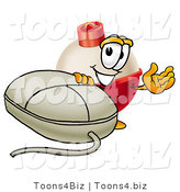 Illustration of a Fishing Bobber Mascot with a Computer Mouse by Toons4Biz
