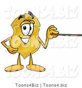 Illustration of a Police Badge Mascot Holding a Pointer Stick by Toons4Biz
