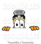 Illustration of a Science Beaker Mascot Peeking over a Surface by Toons4Biz