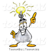 Illustration of a Science Beaker Mascot with a Bright Idea by Toons4Biz