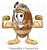 Illustration of an American Football Mascot Flexing His Arm Muscles by Toons4Biz