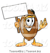 Illustration of an American Football Mascot Holding a Blank Sign by Toons4Biz